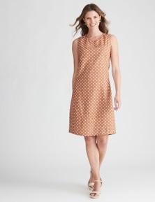 W.Lane Spot Notch Neck Dress