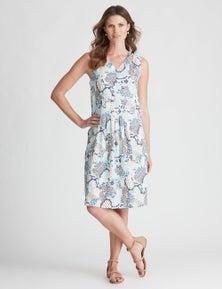 W.Lane Paisley Drop Waist Panel Dress