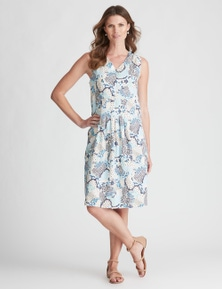 W.Lane Paisley Drop Waist Panel Dress