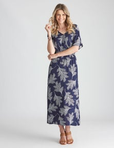 W.Lane Printed Rouched Dress