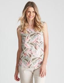 W.Lane Button Floral Top