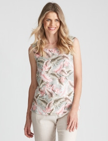 W.Lane Button Floral Top