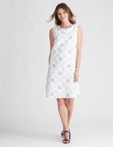 W.Lane Abstract Spot Shift Dress