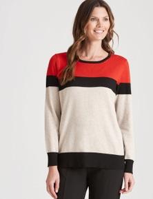 W.Lane Colour Block Pullover