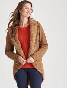 W.Lane Fluffy Knit Vest