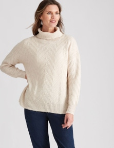 W.Lane Cowl Textured Pullover