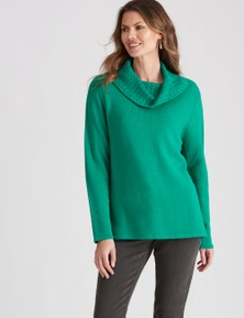 W.Lane Textured Cowl Pullover