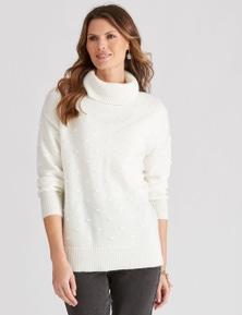 W.Lane Spot Textured Pullover