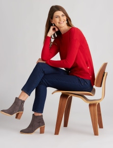 W.Lane Side Button Pullover
