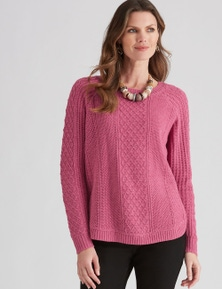 W.Lane Curved Cable Pullover