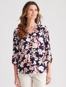 W.Lane Floral Button Through Blouse