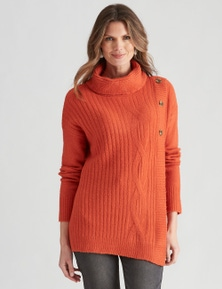 W.Lane Assymetrical Cable Pullover
