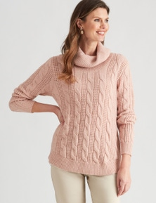 W.Lane Zip Detail Cable Pullover