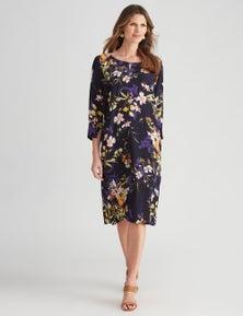 W.Lane Key Hole Floral Dress