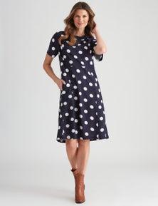 W.Lane Linen Cowl Neck Dress