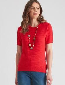W.Lane Dobby Short Sleeve Pullover