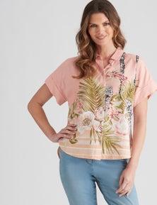 W.Lane Linen Palm Shirt