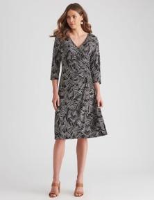 W.Lane Knit Wrap Dress