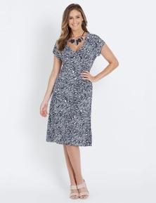 W.Lane Mono Wrap Dress