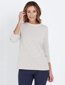 W.Lane Jacquard Cowl Top