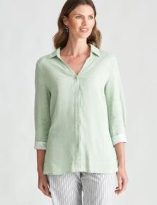 W.Lane Printed Cuff Linen Shirt