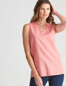 W.Lane Sleveless Linen Top