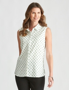 W.Lane Spot Sleeveless Linen Shirt
