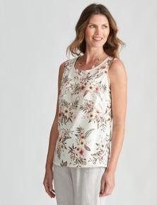 W.Lane Floral Side Button Top