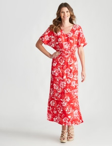 W.Lane Large Floral Rouched Dress