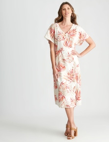 W.Lane Button Fern Printed Dress