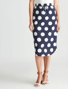 W.Lane Curved Hem Pocket Skirt