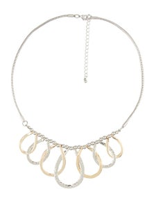 W.Lane Silver Gold Link Necklace