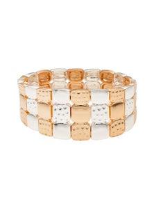 W.Lane Checker Board Stretch Bracelet