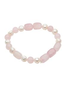 W.Lane Natural Stone & Pearl Bracelet