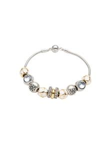 W.Lane Silver Charm Bracelet