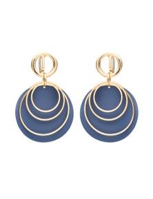 Disc & Ring Clip Earring
