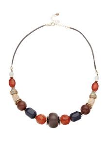 Multi Colour Mid Length Necklace