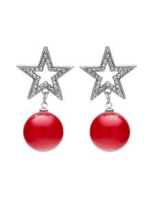 Xmas Star & Ball Earring