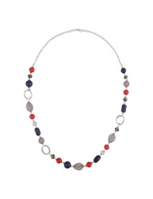 W.Lane Mixed Colour Rope Necklace