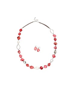 W.Lane Shell Necklace Earring Sets
